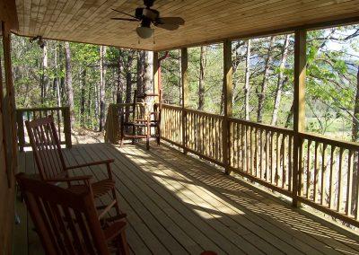 Cabin on Hill - porch